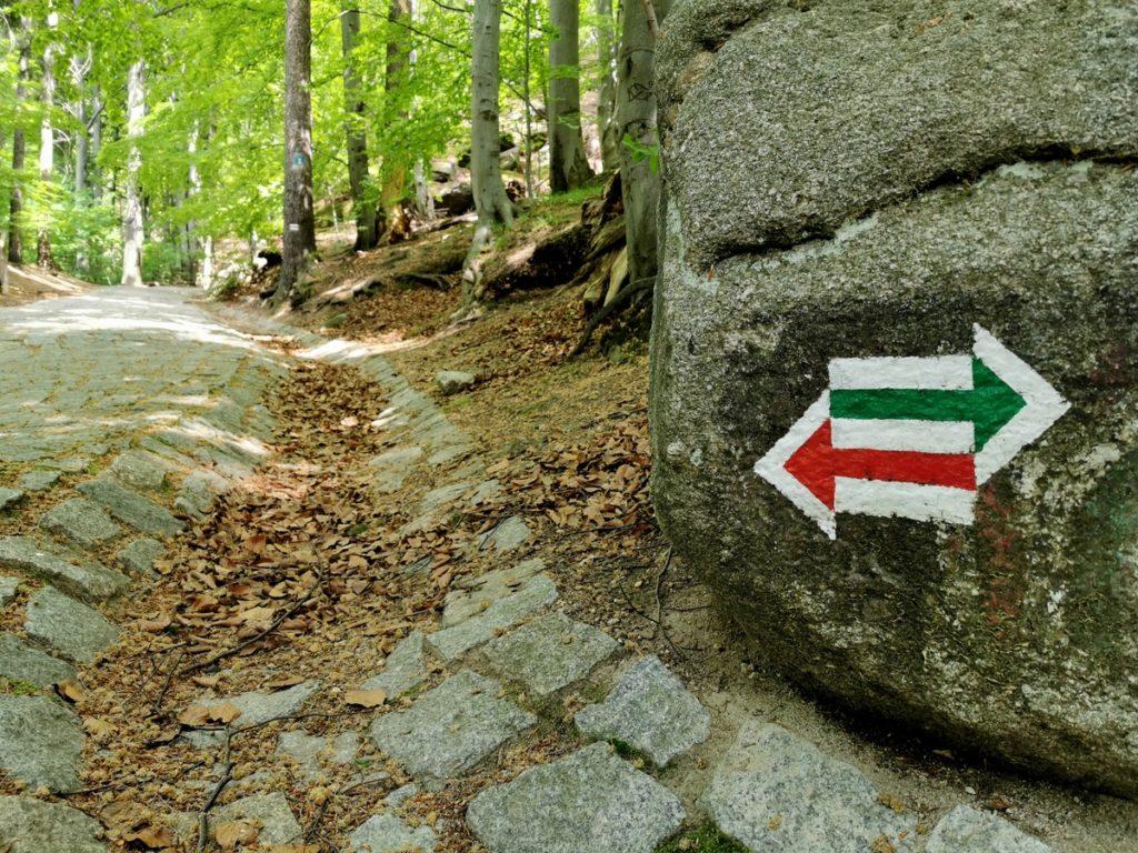 zielony szlak na Zamek Chojnik